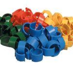 Inele plastic pasari curte - 16 mm green - 20 buc