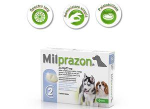 Milprazon <5 kg - 2 tab