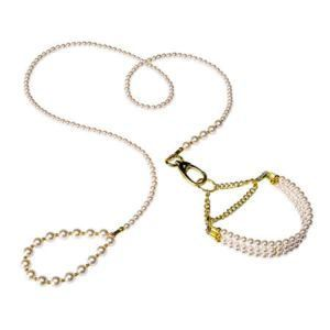 Ferplast - Set lesa si zgarda perle Fashion Parure Pearl 127 cm